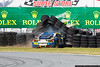 January 29 - Ferrari 428 slams the tire barrier in the International Horseshoe during the Ferrari Challenge Series race at Daytona.  The driver walked away without injuries.