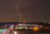 June 14 - Severe thunderstorms rolled through Charlotte after dark.