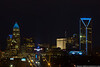 February 6 - Charlotte is decked out in Panthers Blue on the eve of the Super Bowl.