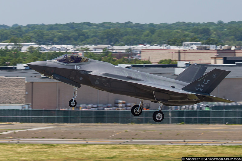 May 28 - F-35 Lightning II makes a low approach at Republic Airport following the Heritage Flight flyover of the Jones Beach Air Show.