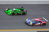 January 30 - Prototype division cars take to the high banks early in the Rolex 24 at Daytona.