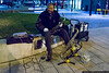 January 16 - A street musician entertains passersby in Greenville, SC.