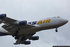 January 15 - Atlas Air 747 arrives on a rainy morning, picking up relief supplies donated by Samaritan's Purse.