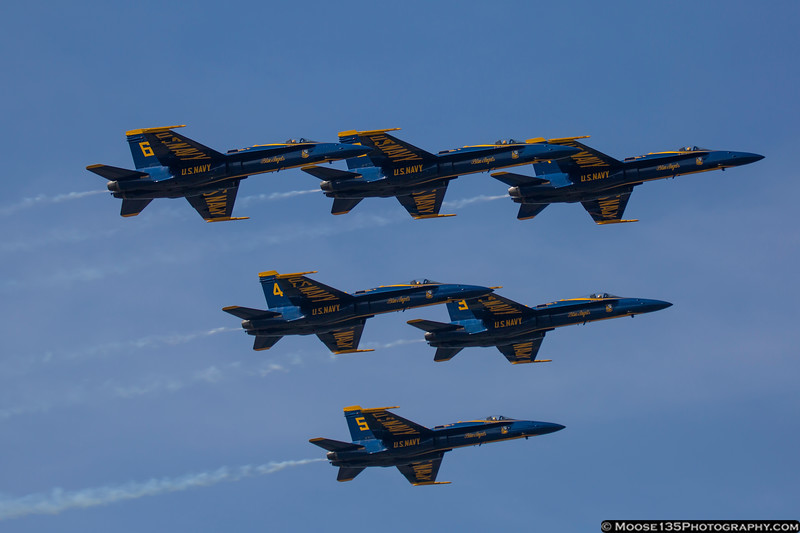May 26 - The US Navy Blue Angels arrive at Republic Airport for the Jones Beach Air Show.