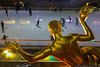 January 12 - Ice skaters at Rockefeller Center, 64 degrees at 7pm!