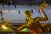 January 12 - Ice skaters at Rockefeller Center, 64 degrees at 7pm!