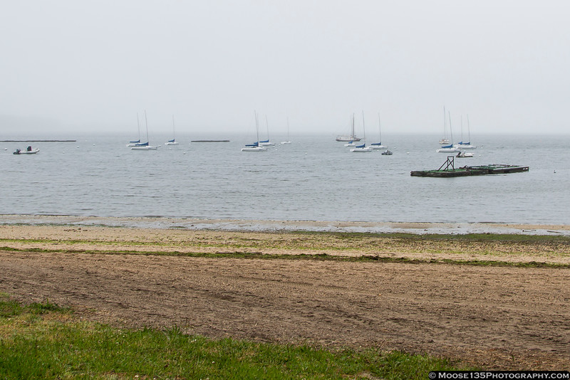 May 25 - Fog rolls into Oyster Bay.