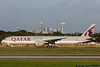 August 17 - Thanks to weather in Atlanta, this Qatar Boeing 777 paid a visit to Charlotte.