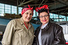 May 29 - A couple of Rosies...American Airpower Museum Julia Blum and singer Theresa Eaman.