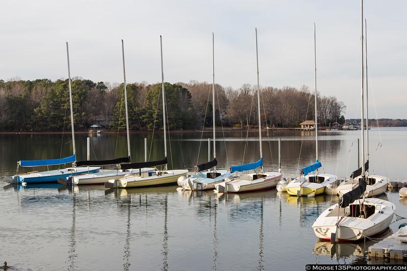 January 7 - Sailboats on a cold Lake Norman