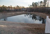 January 3 - It was so cold, the pond out back froze over, but at least we didn't get the snow that moved up the coast!
