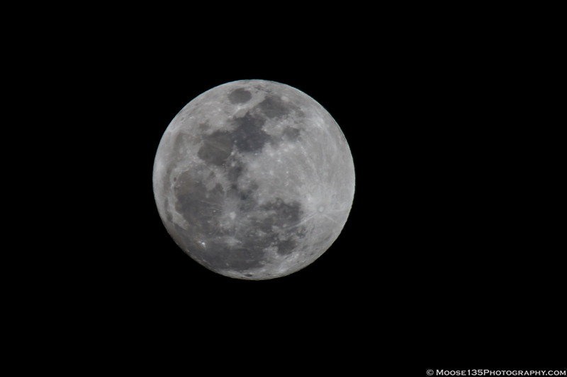 January 30 - Blue Super Moon rise