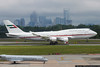 April 24 - Dubai Air Wing / Royal Flight 747-400 from the United Arab Emirates arrives in Charlotte.