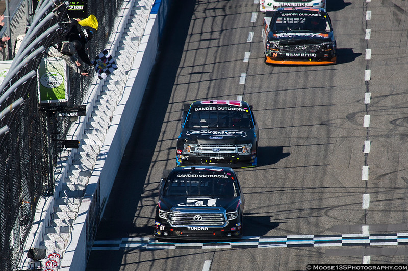 March 23 - Kyle Busch takes the checkered flag in the NASCAR Gander Outdoors Truck Series race at Martinsville.
