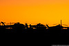 September 22 - Helicopters of the Carolinas Aviation Museum at sunset.
