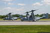 May 27 - Two of four USMC MV-22 Ospreys prepare to depart Concord Regional Airport. The four performed the flyover before the Coca Cola 600 at Charlotte Motor Speedway the day before.