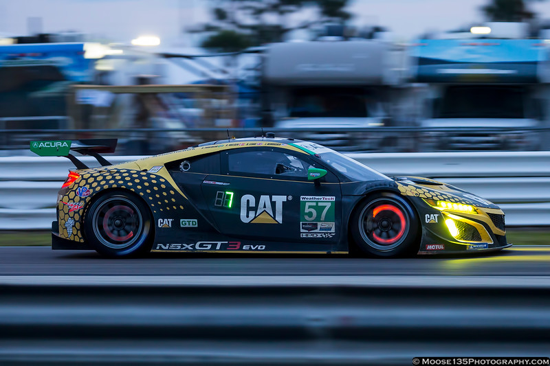 March 16 - Racing into the night with the all-woman team for Meyer Shank Racing partnered with Heinricher Racing at the 12 Hours of Sebring.