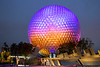 March 17 - Spaceship Earth geodesic sphere dominates the skyline at EPCOT.