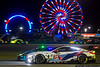 January 26 - Racing under the stars in the Rolex 24, with the landmark Ferris wheel on the Daytona backstretch.