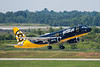 """June 21 - jetBlue brought """"Bear Force One"""", their Boston Bruins special schemed A320, into CLT today."""