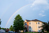 August 10 - A rainbow after some storms passed through.
