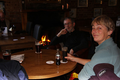 A welcoming fire at The Rose & Crown - Essendon