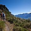 Climbing the ridge to Collada Blanca