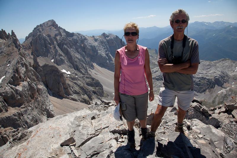 Joan and Bob at the summit