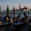 Boarding the gondola