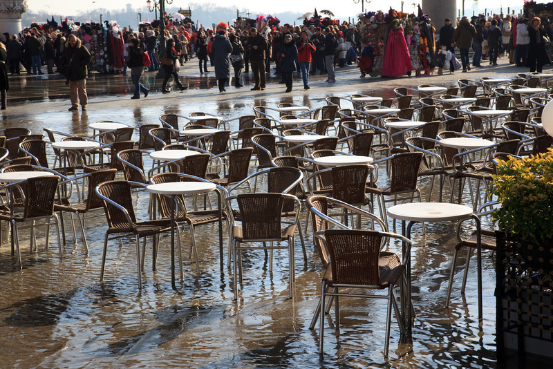 Piazza San Marco regularly floods in winter