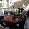 Floating fruit and veg market stall