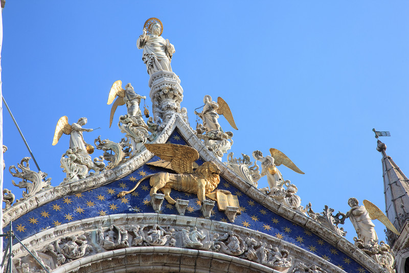The winged lion is the famous symbol of the Venetian Empire