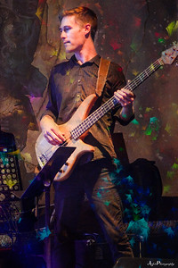 Justin Presley trying out the bass...