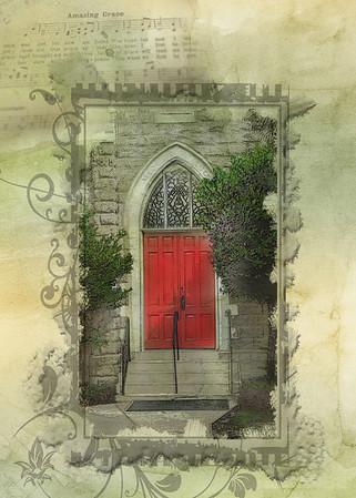 The Red  Church Door