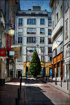 Shopping District of Limoges France