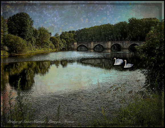 Another version of the Bridge in Limoges France.