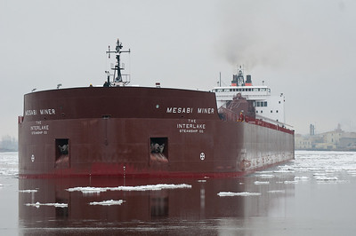 The Mesabi Miner, one of 13 one-thousand foot ore ships on the Great Lakes.