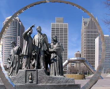 city, statue