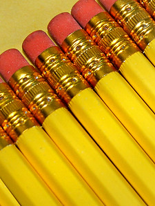 wooden pencils in a row