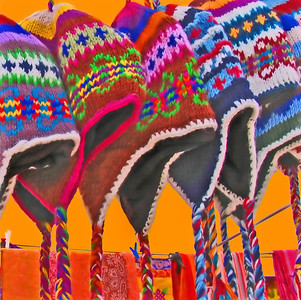wool chullo hats worn by Peruvians and Bolivians, wool chullo hats worn by Peruvians and Bolivians