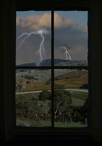 Thunderstorm from a Window
