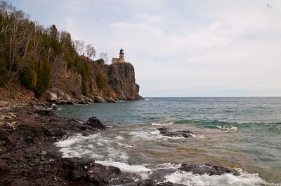 Iconic view of the lighthouse from the lake level. This is one of MInnesota's most photographed landmarks.