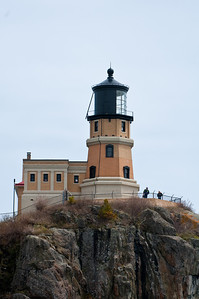 The lighthouse did not have to be very tall because it was built high atop a cliff overlooking the lake.