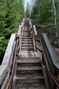 """There are a lot of steps to get from """"up top"""" to the lake level. Seems like there are even more when you go back up."""