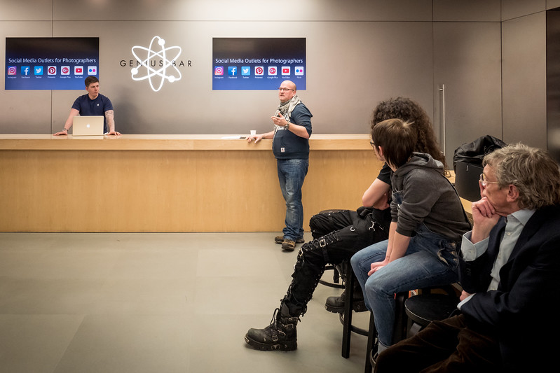 A fun evening at the Apple store, talking a mutual passion for photography with the members of PhotoBath