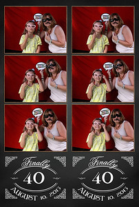 Happy 40th Bithday!  We hope you loved your surprise!  Thank you for choosing Smashing Photo Booth a partner of RI Weddings and Events www.facebook.com/smashingbooth