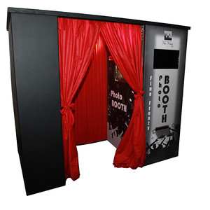 Photo Booth  Here at Fine Frenzy you will find our Photo Booths has a unique design - it's custom built by our competent team; each one comes with different colour backdrops (which can be changed); GREEN SCREEN ability & can even do Video recordings as an optional extra.