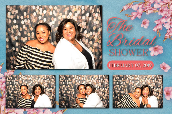 Bridal Shower 1 large, 3 small images postcard