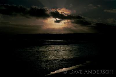 Bonny Doon Beach Seascape Sunset 4 (1993)