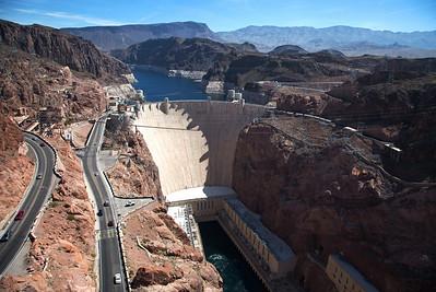 Hoover Dam from New Overlook  http://365.greatproj.com/2011/04/106365-hoover-dam-from-new-overlook/